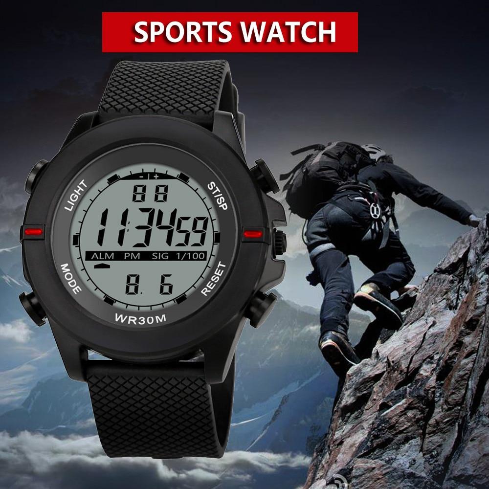 Digital Watch Military-Sport Electronic Waterproof Men Men's Analog LED Gifts Luxury