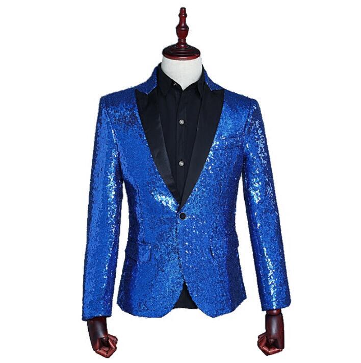 ασημένιο παλτό σακάκι blazer χορεύτρια - Ανδρικός ρουχισμός - Φωτογραφία 4