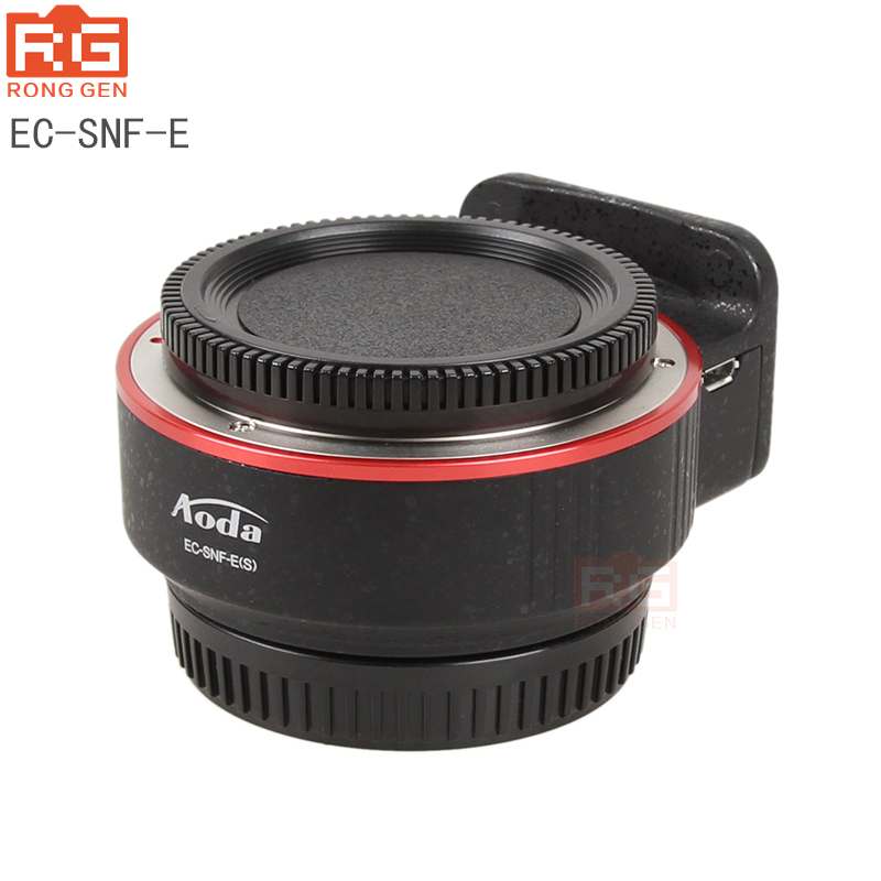 RG Lens Mount Adapter CM-ENF-E1 AF for Nikon F Lens to for Sony E-Mount Autofocus Electronic Lens Adapter for Sony  camera SLR lens to telescope adapter suit for sony alpha minolta af mount fourth generation swebo for wildlife photographers