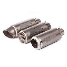 51/61 мм лазерная маркировка Универсальный мотоцикл глушитель подходит для большинства мотоциклов Для YAMAHA R25 R30 для Kawasaki Z750 Z800