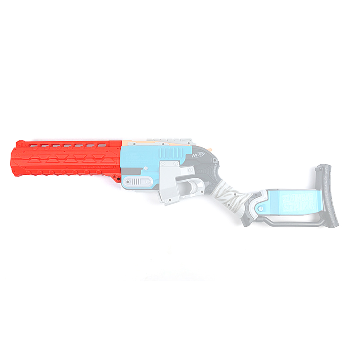 Surwish Tactical 3D Printing Comet Single Darts Barrel for Nerf Zombie Strike Sledgefire Blaster Set - Orange maliang appearance modification 3d printing front tube a 3 0 decoration part for nerf zombie strike doublestrike blaster