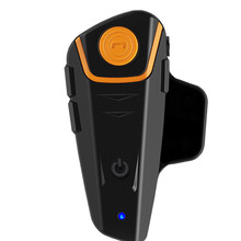 EU Plug 1000M BT Bluetooth Motorcycle Helmet A2DP Inter phone FM Radio Intercom Headset TJ