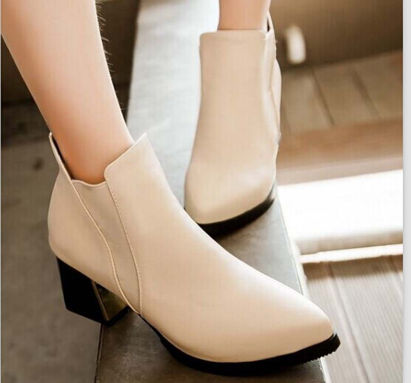 New fashion shoes women boots with sexy high heel women pointed toe ankle boots platform snow boots for women size34-43 steel toe women combat ankle boots platform ankle boots for women work