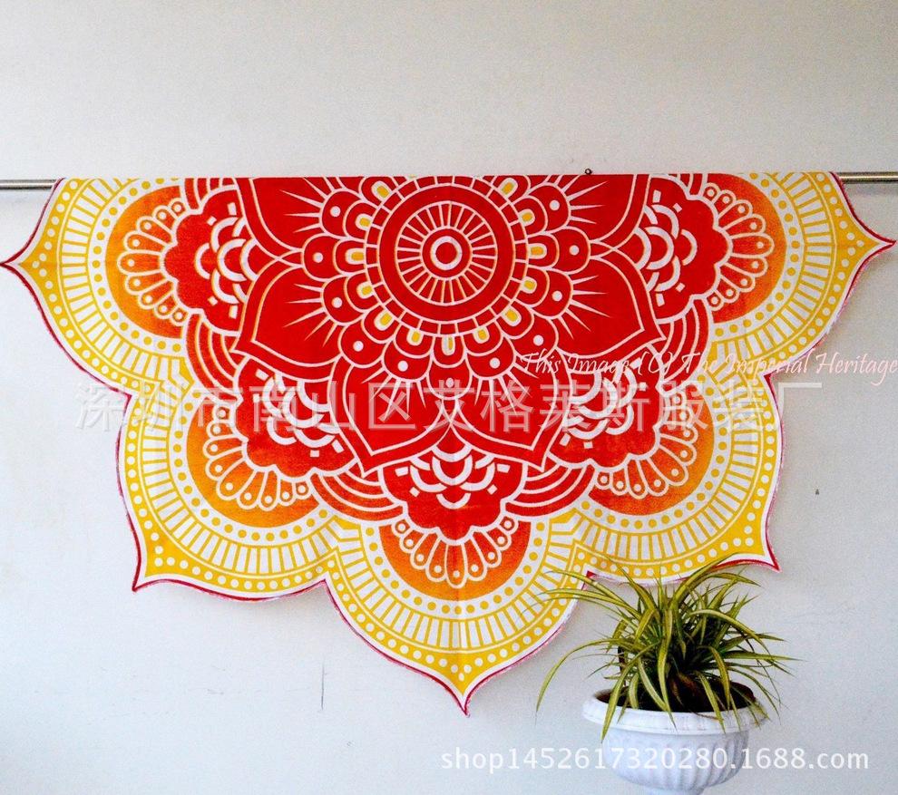 Hot summer szyfonowa wall hanging tapestry koc ręcznik plażowy duży mediter flora miękkie narzuta yoga mat obrus home decor 2