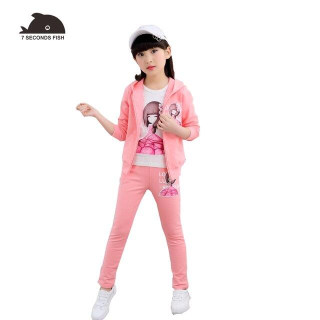 girls clothing set autumn  2019  girls outfits sport set kids tracksuit children clothing girls 6 8 10 12 14 years 2 piece
