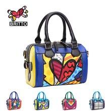 ROMERO BRITTO  New  Fashion Women Handbags Diagonal Small Bags Pillow Bags Shell Bag Ladies Shoulder Messenger Bags
