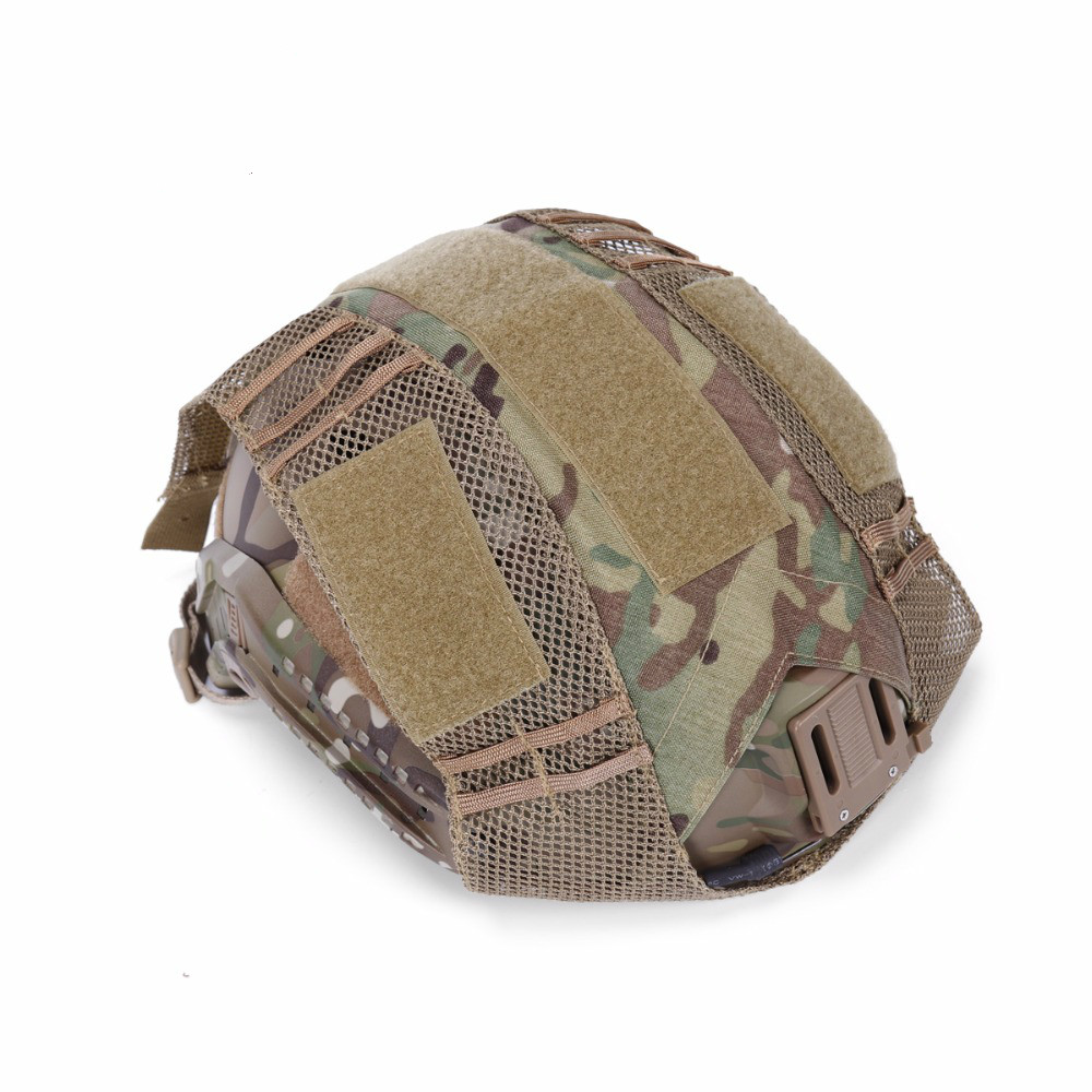Image 2 - FMA Hunting Tactical Combat Paintball  Helmet Cover Durable Light Weight Half Covered Helmet Cloth Hunting Accessories-in Hunting Gun Accessories from Sports & Entertainment
