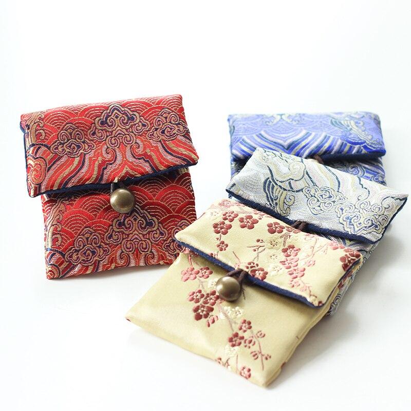 Сгущать старинные маленькие путешествия ювелирный мешок китайский шелк парча сумка портативный Лучший!