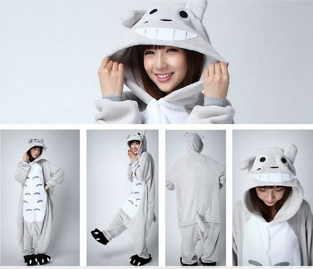 New Arrival Unisex Adult Animal Nightwear Sleepwear Totoro Cosplay Costume  Totoro Onesie Pajamas halloween costumes for women ce98310e6
