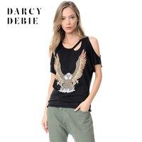 Darcydebie New Fashion Summer Basic T Shirt Rock Fan Rune Animal Pattern T Shirt Strapless For