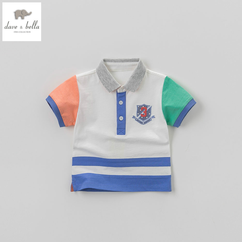 738f3f708 DB5959 dave bella summer baby boys polo shirts kids infant clothes children  toddle t shirt childs cotton polo shirt