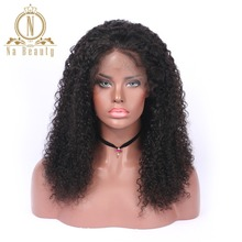 Brazilian Remy Hair Deep Curly Lace Front Wigs Natural Color 100% Human Hair Cheap Wigs Na Beauty Hair Free Shipping