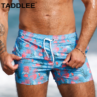 Taddlee Brand Sexy Swimwear Men's Boardshorts Beach Shorts Wear Surfing Swimming Boxer Trunks Square Cut Bathing Suits Swimsuits