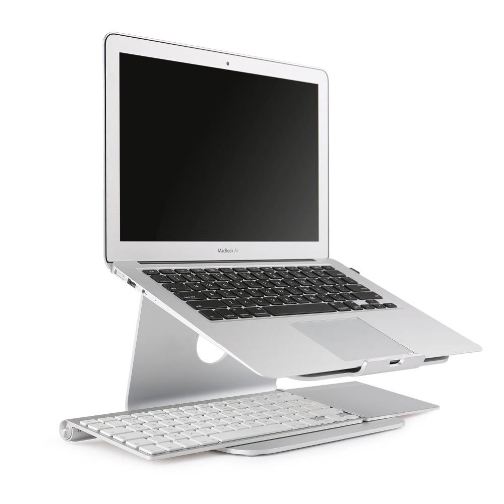spinido laptop stand 360 degree rotation premium quality aluminum notebook stand for apple macbook and all notebooks