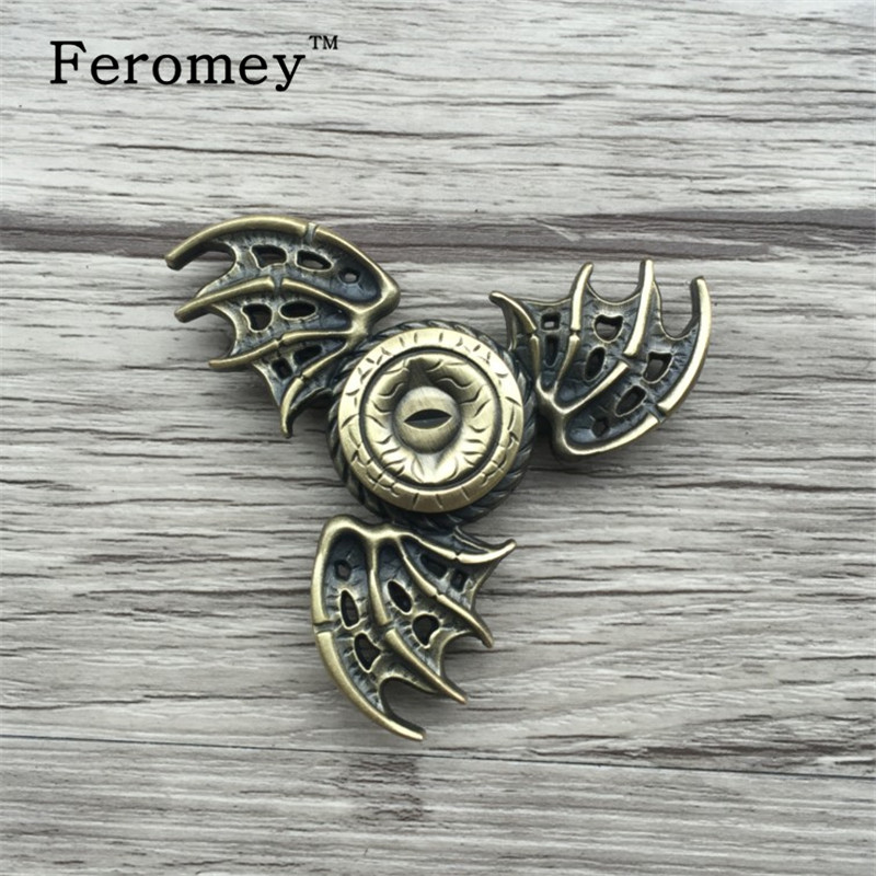 Game Of Thrones EDC Fidget Toys Bat Triangular Hand Spinner Toy Metal Hand Spinner Tri Spinner