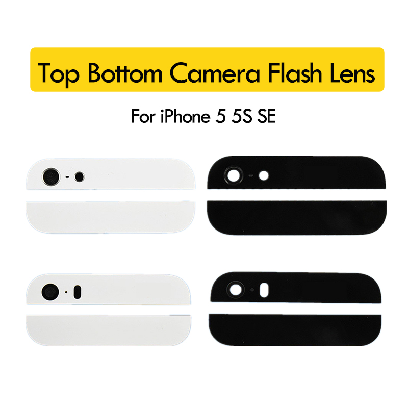 Back-Cover Housing iPhone 5 Sticker Glass-Camera for 5S SE Assemble Top-Bottom-Replacement-Parts