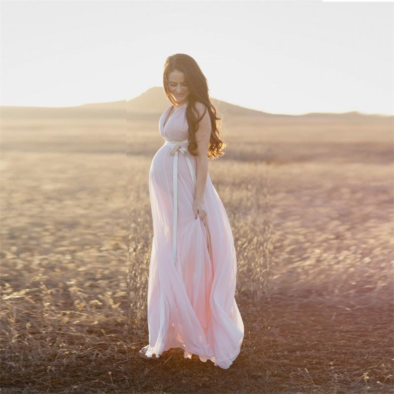 Romantic Vintage Mujeres Embarazadas Vestidos Novia Robe De