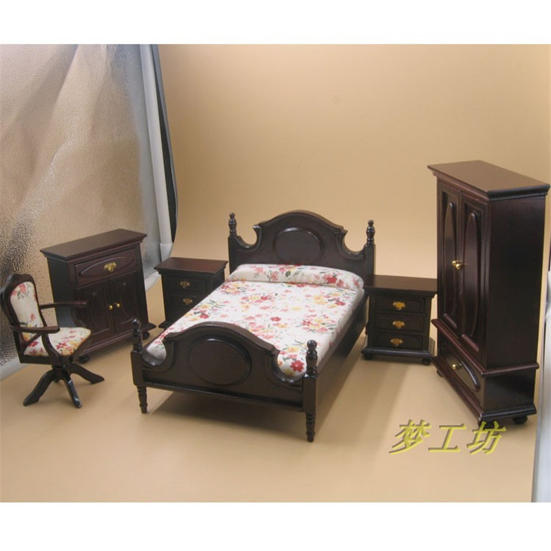 Kids Bedroom Furniture Kids Wooden Toys Online: 1:12 Dollhouse Miniature Furniture Wooden Toy For Dolls