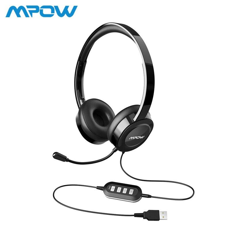 Mpow BH158 2nd Génération Filaire Casque Pour PC Appel Téléphonique Center Tablet Chat Avec 3.5mm Audio Plug/USB mode de Surveillance Du Port