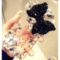 Rhinestone diamante de cristal big bowknot casos de telefone capa para o iphone 5s 5 coque SE 6 s 6 7 Plus para Samsung S 5 6 7 Nota borda caso