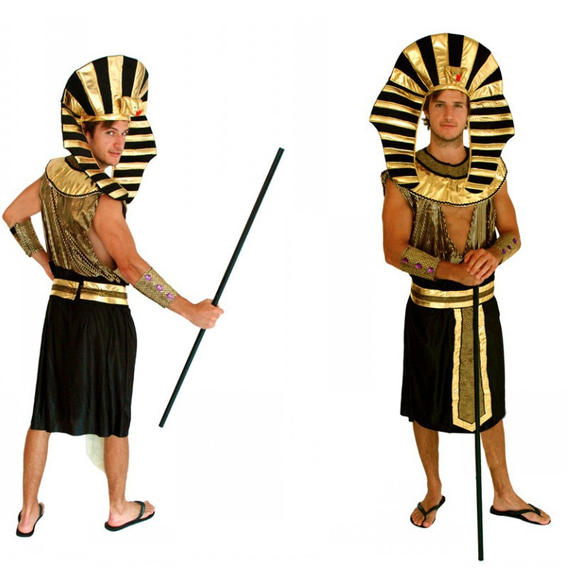 Man Ancient king of Egypt Pharaoh Cosplay Halloween Arab Warrior The Mummy Costumes Carnival Masquerade Party performance dress