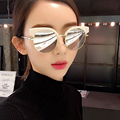 New moda homens óculos de sol cat óculos espelho de metal cat eye sunglasses mulheres marca designer de alta qualidade rodada sun glases 3393
