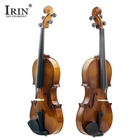 IRIN 4/4 Full Size Retro Violin With Tough Plastic Panel Vintage Color Acoustic Practical Violin For Student Beginner