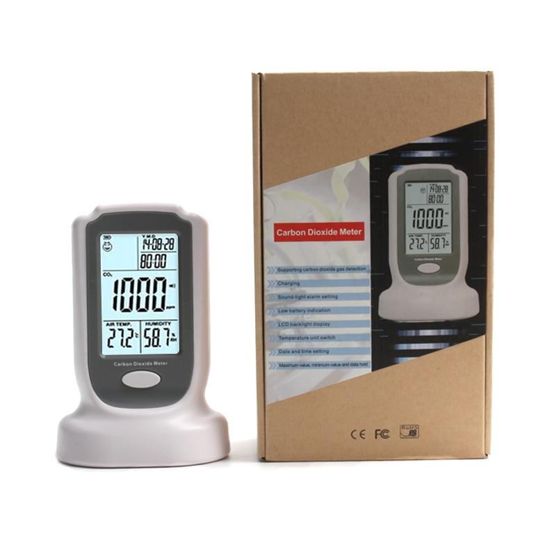 все цены на GM8802 Handheld portable Carbon Dioxide Detector CO2 Meter LED Backlight Display with Sound-light alarm setting онлайн