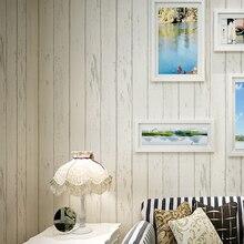Papel pintado De rayas verticales De estilo mediterráneo Papel pintado De tela no tejida De grano De madera azul De la vendimia rollo De Papel De Parede Listrado