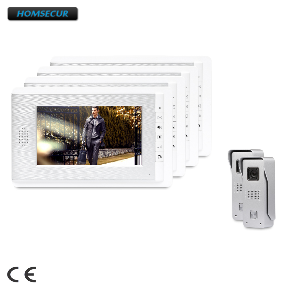 HOMSECUR 7inch Wired Video Door Phone Intercom System with Intra-monitor Audio Intercom : XC002+XM708-SHOMSECUR 7inch Wired Video Door Phone Intercom System with Intra-monitor Audio Intercom : XC002+XM708-S
