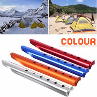 35cm Aluminum U Shaped Tent Nail Tent Stakes Snow Peg Sand Peg for Outdoor Camping Hiking Beach Tent Accessories|Tent Accessories| |  -
