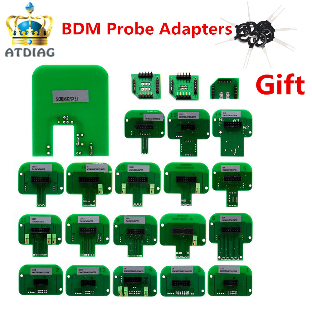22pcs BDM adapters KTAG KESS KTM Dimsport BDM Probe Adapters Full Set LED BDM Frame ECU