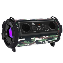 лучшая цена outdoor Portable Wireless bluetooth Speaker Subwoofer With Mic Super Bass Party Speaker Portable speaker belly speaker