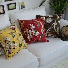 1 Unid Equipamiento Del Hogar decorativo fundas de cojines de asiento del sofá silla de coche funda de almohada de algodón Europea