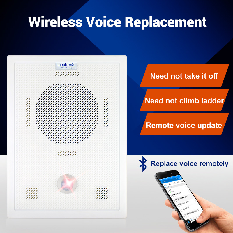 US $110 0  Wall mounted high power infrared sensor voice prompter speaker  broadcaster mobile phone blue voice tooth replacement-in Public  Broadcasting