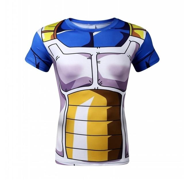 189b58b9c5 Nuevo impreso camiseta de la bola del Dragón Goku vegeta hombres Armaduras  3D t-shirt