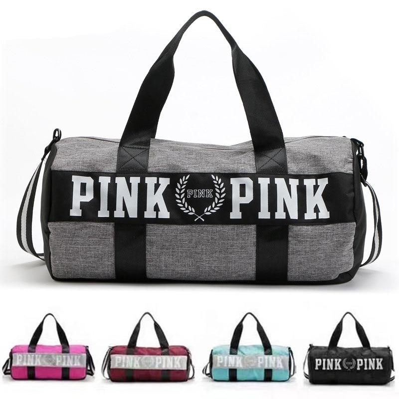 Barrel Travel Sports Fitness Bag For Women Men Gym Bag Hot Training Female Yoga Duffel Bag