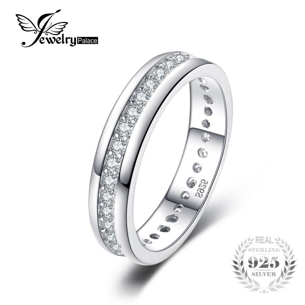 Joyeria Palacio Banda Clásica anillo de boda Real 925 joyería de plata esterlina para mujer joyería fina regalo para novia Venta caliente