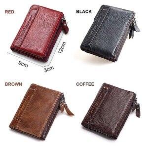 Image 5 - KAVIS 100% ของแท้หนังVINTAGEกระเป๋าสตางค์ผู้หญิงผู้หญิงกระเป๋าสตางค์Zipperเหรียญกระเป๋ากระเป๋าMINI Walet