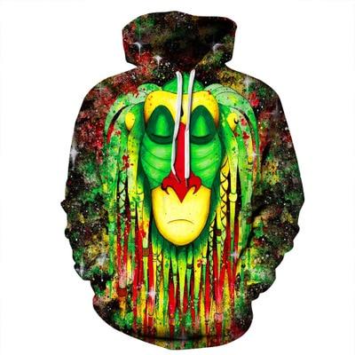 2019 Hot hoody New 3d Skull Face Hoodies Men Women Fashion Sportswear Hip Hop Tracksuit Brand Hooded Sweatshirt Tops