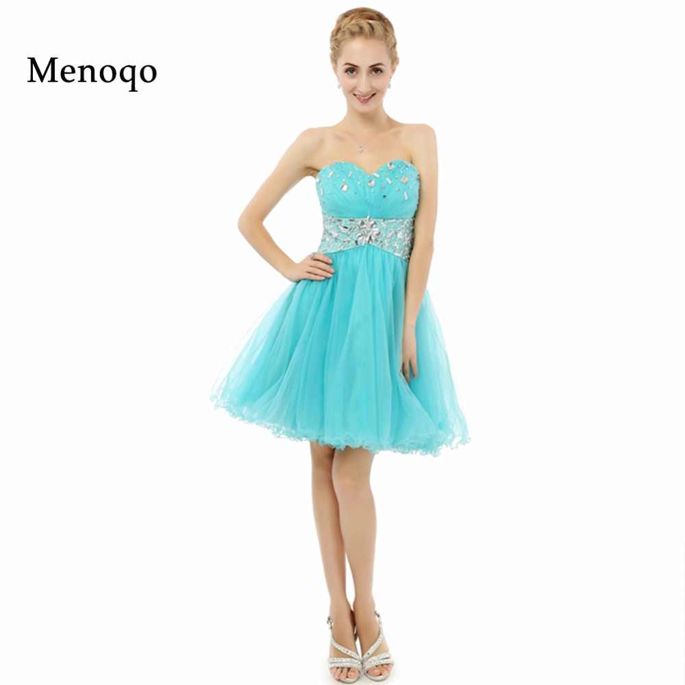 1c1a595c97 8th grade graduation dresses Pretty Girl A line Beaded Sweetheart Puffy  Tulle 2019 Short Party Homecoming
