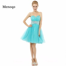 8th grade graduation dresses Pretty Girl A line Beaded Sweetheart Puffy Tulle  Short Party Homecoming dresses Real Sample