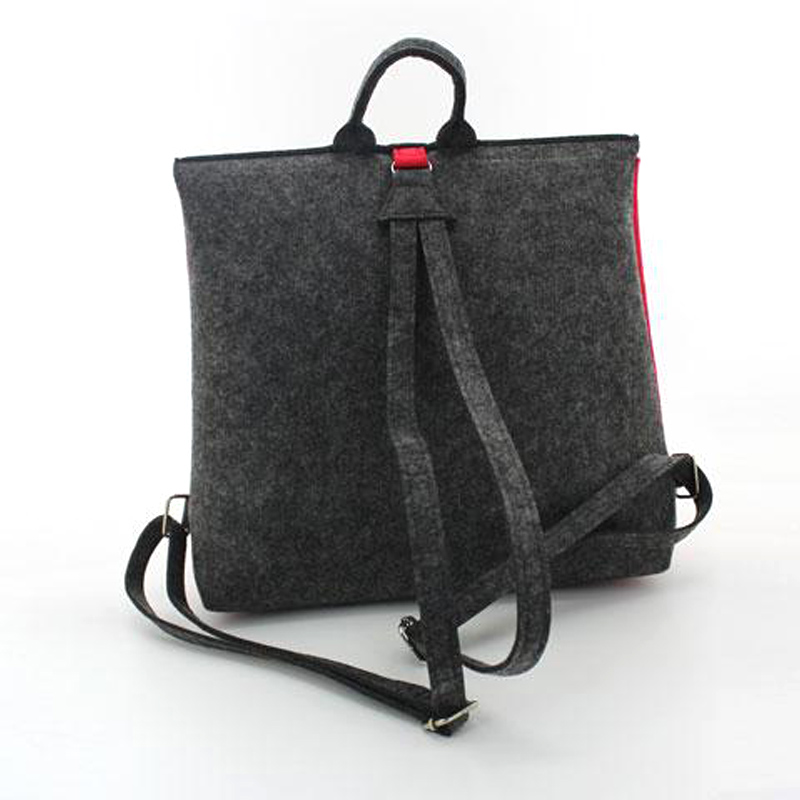 Felt backpack travel knapsack School bag Handmade fashion bags Light Eco Backpack C016
