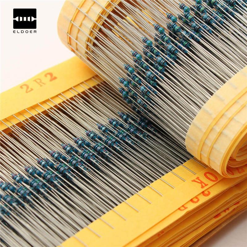 Excellent Professional Metal Film Resistor 1% 1/8w 0.125w Kit 2425pcs Resistor Assortment Kit Assorted Value Pack Be Novel In Design