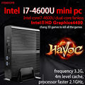 Fanless mini pc windows 10 computador desktop nettop intel nuc sistema Core i7 4510U HDMI HTPC barebone HD4400 Placa Gráfica 300 M wi-fi