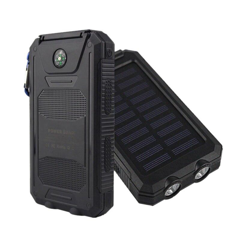 no Battery 50000mah Solar Panel Led Dual Usb Ports No Battery Diy Power Bank Case Battery Charger Kits Box Moderate Price