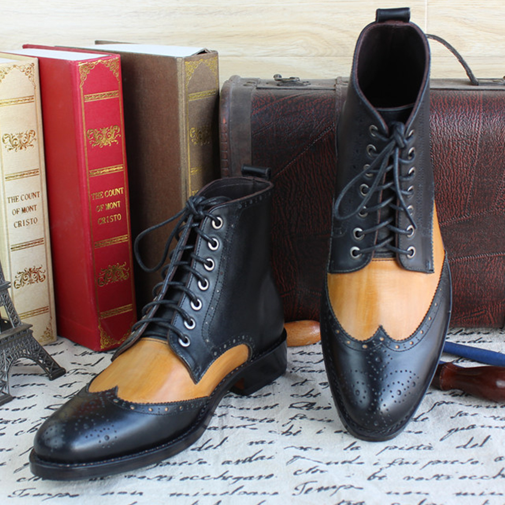 yellow dress bron boots heels