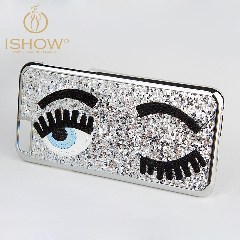 iPhone6 / iPhone 6 Plus Case 3D Fashion Chiara Ferragni Sequins Big Blinking Eyes Bling Phone Cover - I SHOW Ali Store NO. 59 store