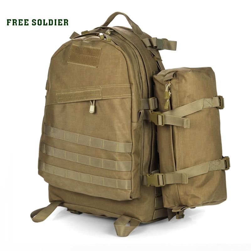 Prix pour Free soldier sports de plein air de camping hommes sac à dos tactique 1000d nylon escalade et randonnée sacs