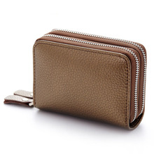 Genuine Leather Credit Card Holder Fashion ID Business Card Large Capacity Travel Case Coin Purse High Quality Unisex  Wallet zoress genuine leather women fashion card holder 22 card slots large capacity girls id credit card case bag purse wallet 8 color